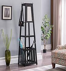 entryway hall tree coat rack stand with