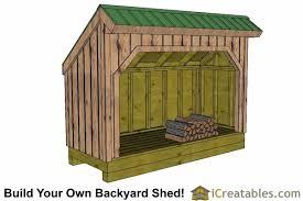 firewood shed plans diy wood bins