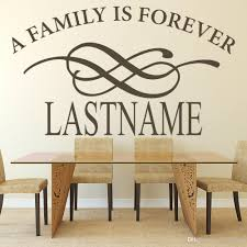 Custom Last Name Wall Sticker Decor Living Room A Family Is Forever Wall Decal For Kitchen Decoration Vinyl Wall Paper Art Modern Wall Decal Modern Wall Decals From Joystickers 10 22 Dhgate Com