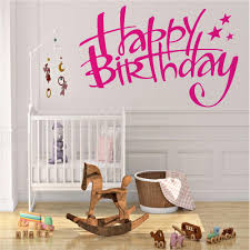 Happy Birthday Wall Decal Home Decoration Accessories For Kids Rooms Baby Birthday Wall Stickers Interior Removable Decor Wall Decals For Girls Room Wall Decals For Home From Onlinegame 11 67 Dhgate Com