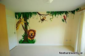 Jungle Mural Inspiration For The Girls Room Baby Boy Kamers Kinderkamer Kinderkamer Behang