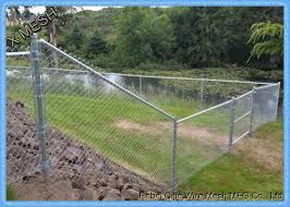 Galfan Coated Steel Chain Link Security Fence 3ft 5mm Wire Diameter