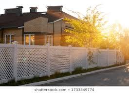 White Plastic Fence Images Stock Photos Vectors Shutterstock