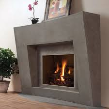 modern omega fireplace mantel of stone