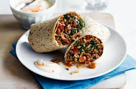Beef and spinach burritos | Tesco Real Food