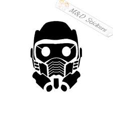 2x Guardians Of The Galaxy Star Lord Mask Logo Vinyl Decal Sticker Dif M D Stickers