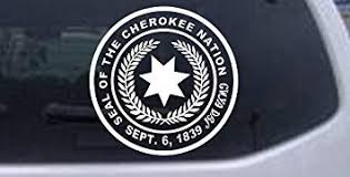 Amazon Com 6in X 6 0in White Seal Of The Cherokee Nation Western Car Window Wall Laptop Decal Sticker Automotive