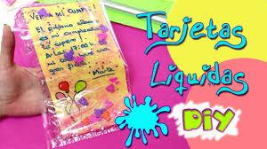 Diy Tarjetas E Invitaciones Liquidas Caseras Manualidades