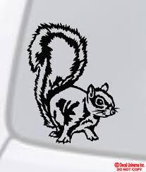 Squirrel Vinyl Decal Sticker Car Window Wall Bumper Animal Rodent Cute Funny