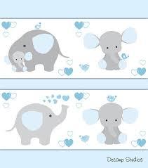 blue grey elephant nursery baby boy