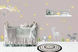 Yellow Animal Nursery Decals Forest Nursery Stickers Nursery Decor Nurserydecals4you