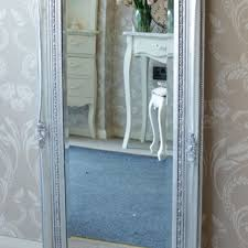 melody maison tall silver ornate mirror