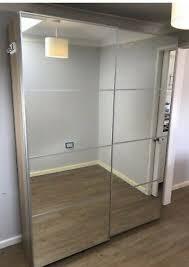 ikea pax wardrobe w sliding mirrors