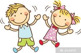 Fototapet Glade barn leker • Pixers® - Vi lever for forandring