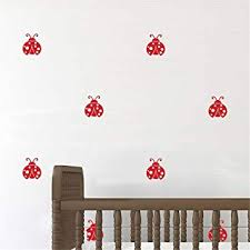 Amazon Com Vinyl Wall Decal Wall Stickers Art Decor Ladybug For Kids Room Home Improvement