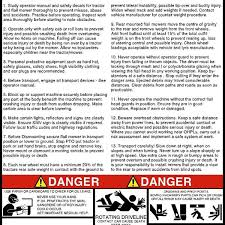 Tractor Flail Mower Warning Decal Acedecals