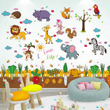 Vegetable Garden Wall Stickers Diy Cartoon Animals Wall Decals For House Kids Bedroom Baby Room Decoration Wall Stickers Aliexpress