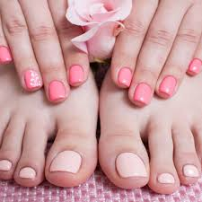 blue polish nail spa nail salon in