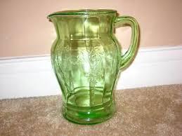 cameo ballerina green depression glass