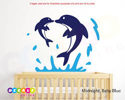 Dolphin Wall Decal Dolphin Wall Sticker Dolphins Jumping Etsy