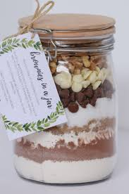 brownies in a jar homemade gift with