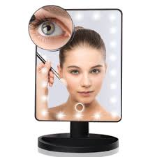 led makeup mirror with touch sensor light