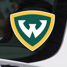 Wayne State University Full Color Block W Logo Car Decal Nudge Printing