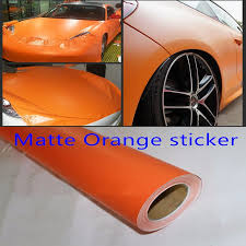 Matte Orange Vinyl Wrap Film Self Adhesive Car Styling Membrane Sticker Decal Sticker Cover Accessory Film Vinyl Vinyl Wrapcar Styling Aliexpress