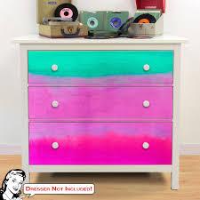 Gradients Blue Pink Ikea Hemnes Dresser Graphic Decal Hack At Retro Planet