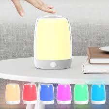 Nicewell Night Light Table Lamp Touch Sensor Lamp Bedside Table Lamp For Kids Bedroom In 2020 Light Table Night Light Touch Lamp