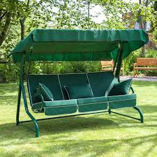 3 seater green swing seat with luxury