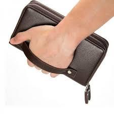double zipper wallet men long style