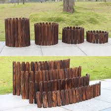 20 25 30cm Wooden Pile Fence Garden Wood Fence Balcony Courtyard Decoration Flowerbed Wood Small Fence Natural Anti Corrosion Fencing Trellis Gates Aliexpress