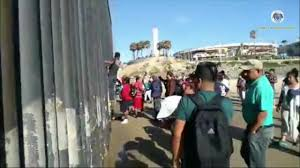 Video Migrants Climb Over Border Fence At Border Field State Park