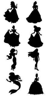 Disney Princess Silhouette Wall Decals At Getdrawings Free Download