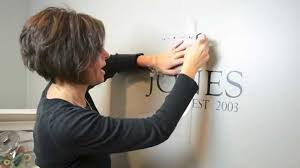 How To Apply A Custom Wall Decal Youtube