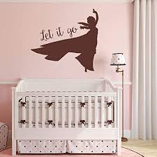 Amazon Com Princesses Wall Decals Elsa Frozen Nursery Little Girls Room Teen Girls Room Decor Handmade