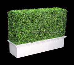 Artificial Boxwood Hedge Topiary Fake Hedge Wall Commercial Silk Int L