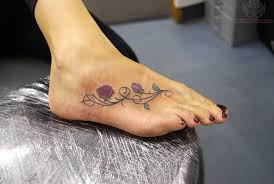 Ivy Rose Tattoo On Foot
