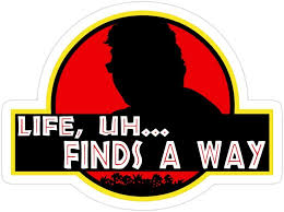 Amazon Com Jess Sha Store 3 Pcs Stickers Ian Malcolm Life Quote Jurassic Park Sticker For Laptop Phone Cars Vinyl Funny Stickers Decal For Laptops Guitar Fridge Kitchen Dining