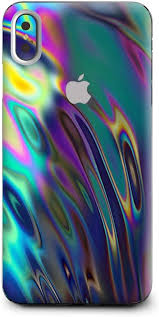 Amazon Com Skin Decal Vinyl Wrap For Apple Iphone Xs Max Phone Stickers Skins Cover Oil Slick Opal Colorful Resin