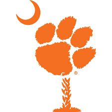 Tigers Clemson 6 Paw Palmetto Tree Decal Alumni Hall