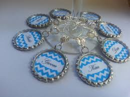 personalized bridal shower wine charms