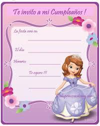 Tarjetas De Invitacion Princesa Sofia Invitaciones Car Tuning