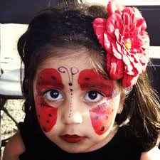 ladybug face paintings