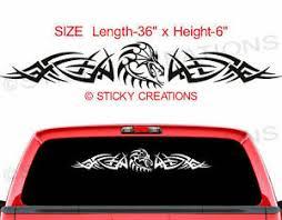 105 104 Dragon Rear Window Decal Tribal Sticker Vinyl Ebay