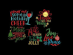 christmas quotes bundle designs sayings embroidery machine