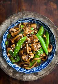 Mushroom Stir Fry with Peas and Green ...