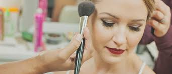 bridal hair and makeup for wedding in