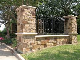 Columns Walls Hardscape Sunnyvale Fence Ironworks Of Dallas Ft Worth